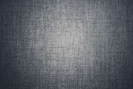 Textile material, natural surface and vintage decor texture concept - Decorative gray linen fabric textured background for interior, furniture design and art canvas backdrop