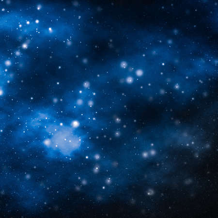 Entdeckung in Astronomie, kosmischem abstraktem und zukünftigem Technologiekonzept - Sterne, Planeten und Galaxien im Kosmosuniversum, Weltraum- und Zeitreisewissenschaftshintergrund Standard-Bild