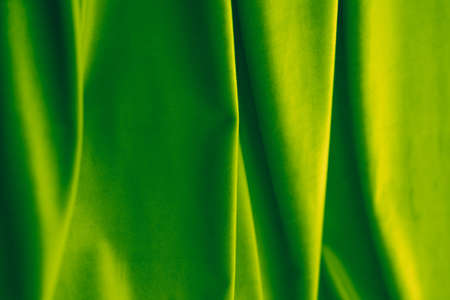 Decoration, branding and surface concept - Abstract green fabric background, velvet textile material for blinds or curtains, fashion texture and home decor backdrop for luxury interior design brand Stock Photo