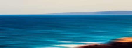 Seascape, seaview and coastline concept - Abstract vintage coastal nature background, long exposure view of dreamy ocean coast, sea retro art print, beach holiday destination for luxury travel brand Stockfoto