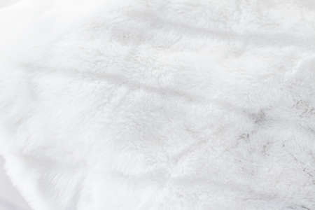 Fashion design, warm winter clothing and vintage material concept - Luxury white fur coat texture background, artificial fabric detail