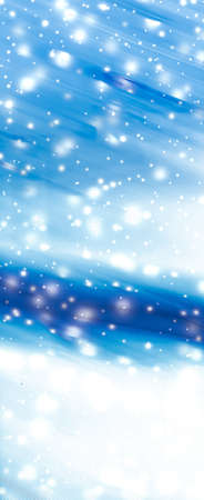 Christmas card, New Years Eve and winter beauty art concept - Holiday brand abstract background, blue digital design with glowing snow Foto de archivo