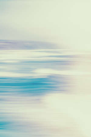 Seascape, seaview and coastline concept - Abstract vintage coastal nature background, long exposure view of dreamy ocean coast, sea retro art print, beach holiday destination for luxury travel brand