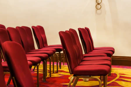 Chairs in conference room in prestige hotel for charity event - Corporate, office and business concept as background banner and luxury brand design Standard-Bild