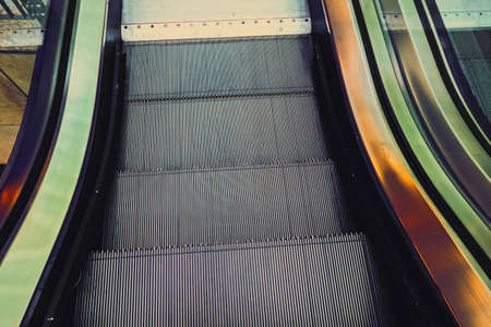 Escalator in a downtown shopping center, metropilitan city area
