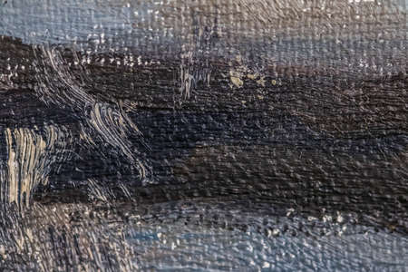 Oil paint brush strokes on canvas background, abstract texture close-up