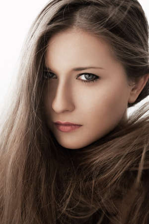 Beauty portrait of a young woman, natural looks Stockfoto