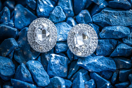 Luxury diamond earrings closeup, jewelry and fashion brands
