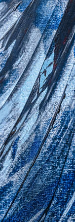 Blue abstract background, painting and arts