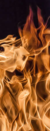 Fire flames as nature element and abstract background, minimal design