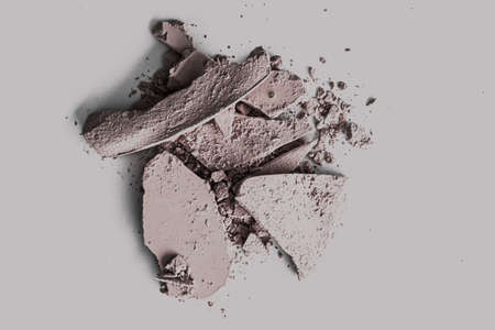 Pale eye shadow powder as makeup palette closeup, crushed cosmetics and beauty textures Reklamní fotografie