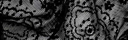 Black lace texture, fabric and textile backgrounds
