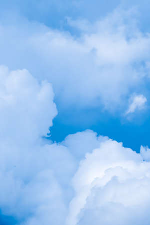 Dreamy blue sky and clouds, spiritual and nature backgrounds