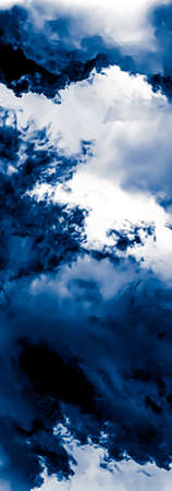 Minimalistic blue cloudy background as abstract backdrop, minimal design and artistic splashes