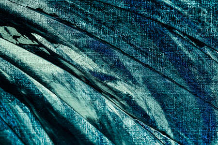 Turquoise abstract background, painting and arts