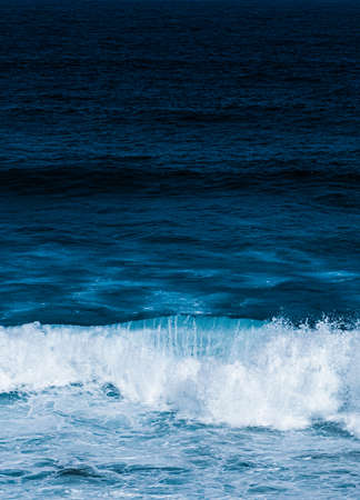 Ocean waves as coastal background, beach holiday destination and luxury travel