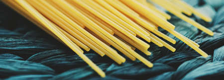 Whole wheat raw spaghetti, pasta organic food