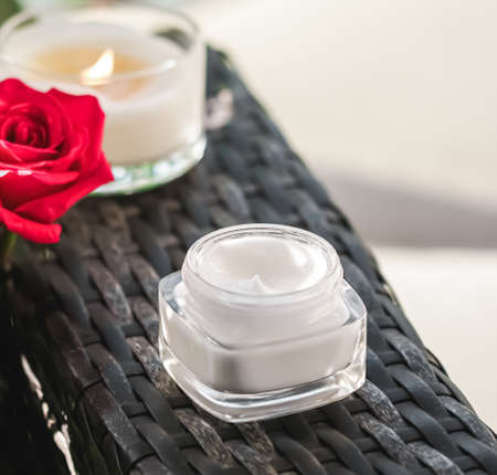 Face cream moisturiser as skincare and bodycare luxury product, home spa and organic beauty cosmetics for natural skin care morning routine