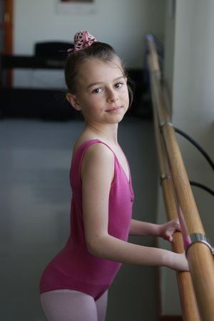 Ballet girl on barre