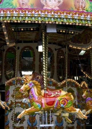 A vintage carousel at the London Zoo photo