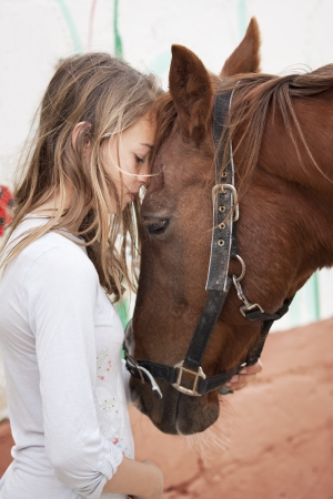 halter: Teenager with pony