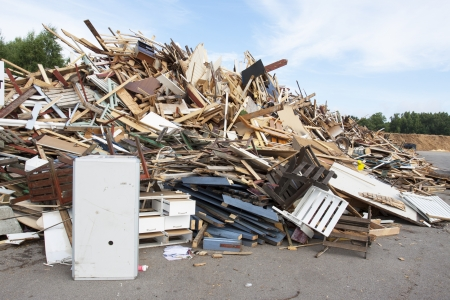 junk yard: A waste disposal facility with junk Stock Photo