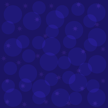 spark: square blue background with transparent circles and transparent spark Illustration