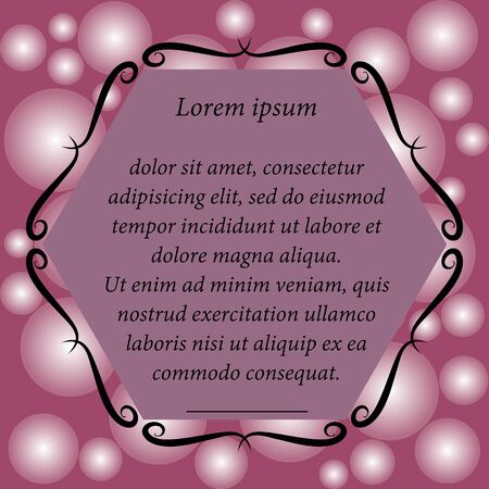 flicker: Colorful background for text. Ornate frame. Card. invitation. Purple, pink, white. Flicker. Abstract.