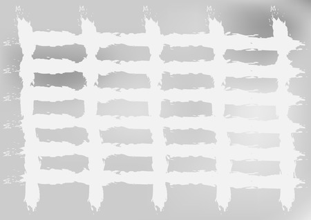 crossing tangle: Gray background with white glow and crossed lines. Rough brush, grunge. Rectangular.