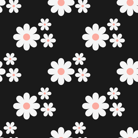 Simple seamless floral pattern white flowers on a black background simple seamless floral pattern white flowers on a black background stock vector 69587675 mightylinksfo