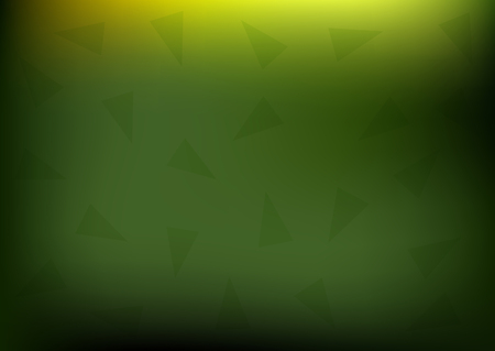 Horizontal blurred background. Abstract green texture with triangular elements. Vector illustration. Ilustração