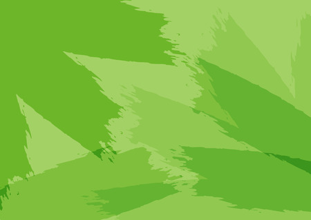 Rectangular background with splashes of paint. Green brush strokes. Sketch, graffiti, grunge. Vector illustration.
