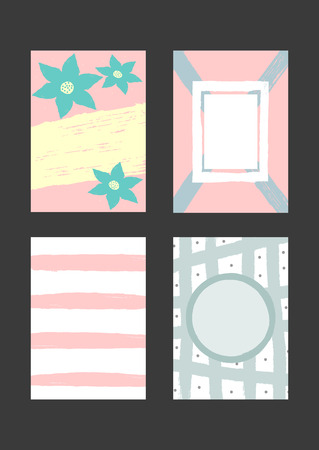 set of creative templates for design of backdrop cards invitations