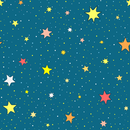 Colorful pattern with stars Endless starry sky.