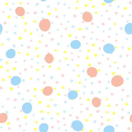 Seamless pattern with repeating round dots. Endless print for children. Cute vector illustration.