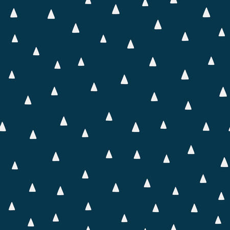 Repeating triangles drawn by hand. Geometric seamless pattern. Simple endless print. Vector illustration.