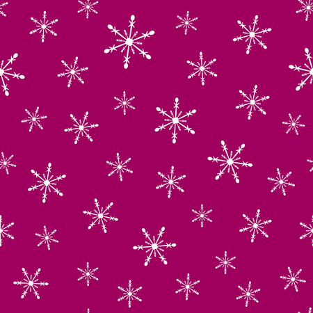 New year seamless pattern with snowflakes. Simple vector illustration.
