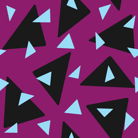 Seamless pattern with randomly scattered triangles. Stylish geometric print. Simple vector illustration.