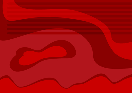 Horizontal abstract red background. Trendy vector illustration.