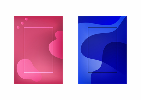 Set of color vertical templates for design. Abstract backgrounds. Vector illustration.