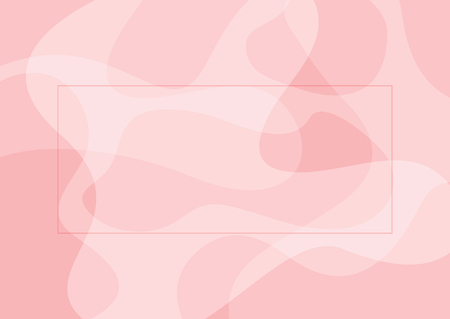 Abstract rectangular pink background with frame. Simple vector illustration.