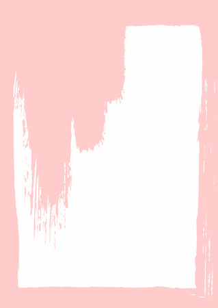 Vertical background with frame and watercolor brush strokes. Grunge, sketch, paint. Vector illustration.
