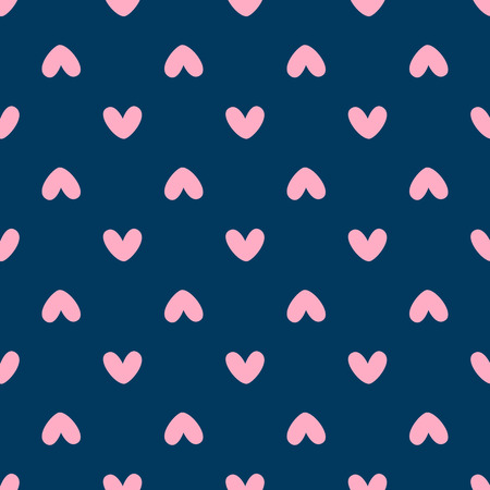 Romantic seamless pattern with hearts. Cute print. Simple vector illustration. Illustration