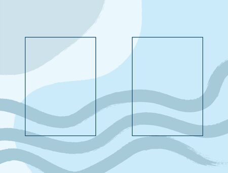 Abstract watercolour rectangular template for design. Sketch, paint, ink. Horizontal vector illustration.