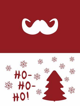 New Year card, poster, banner, flyer, print. Christmas vector illustration. Çizim