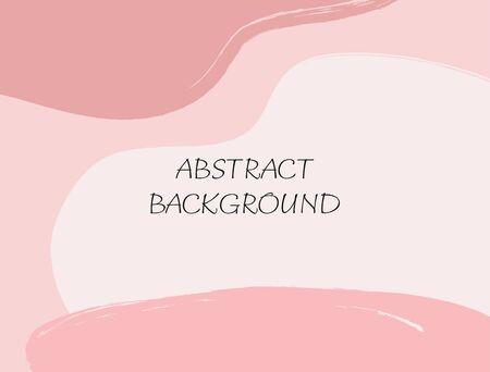 Rectangular abstract background. Brush, paint, watercolor, sketch. Horizontal vector illustration. Çizim
