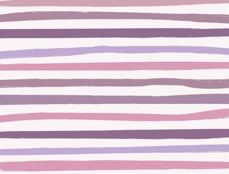 Sfondo con strisce orizzontali disegnate con un pennello. Dipingere, disegnare, acquerello. Illustrazione vettoriale rettangolare. Vettoriali