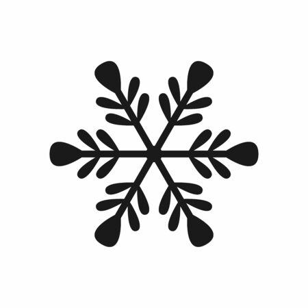 Isolated flat snowflake icon. Ilustracja