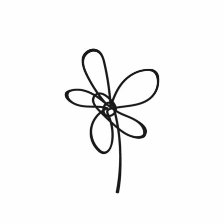 Abstract flower drawn by hand.