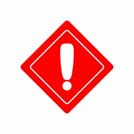 Warning or prohibiting sign with exclamation mark. Flat vector illustration.
